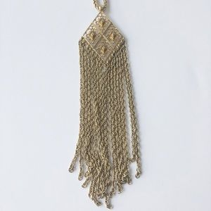 RARE Stella & Dot Gold Makena Necklace